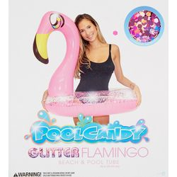 Pool Candy Glitter Flamingo Pool Float