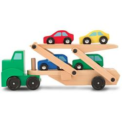 Wooden Car Carrier Truck Set