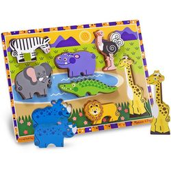 Melissa & Doug Chunky Puzzle Safari Animals
