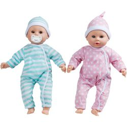 Melissa & Doug Mine To Love Luke & Lucy Twins Baby Dolls