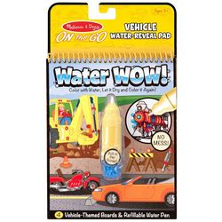 Melissa & Doug Vehicle Water-Reveal Pad On the Go Set