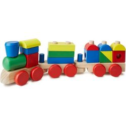 Melissa & Doug Wooden Stacking Train Toddler Toy