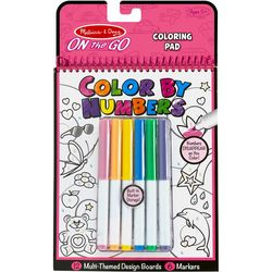 Melissa & Doug Multi Themed Color By Numbers Coloring Pad