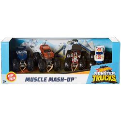 Hot Wheels 4-pk. Muscle Mash-Up Monster Trucks