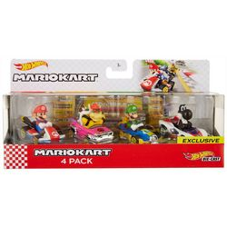 Mario Kart Die-Cast 4-pk. Car Set