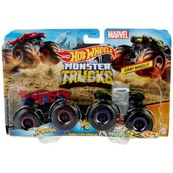 Spiderman v Hulk Monster Truck Demolition Doubles