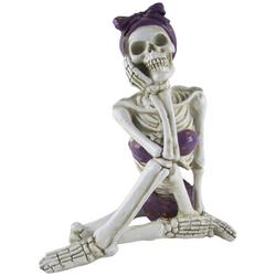 Beach Lady Skeleton Figurine