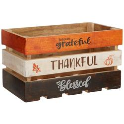 Thankful Harvest Large Wooden Crate