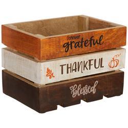 Thankful Harvest Medium Wooden Crate