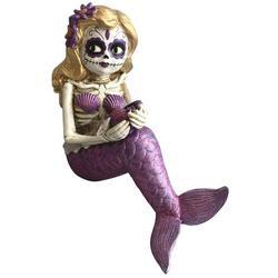 Sugar Skull Mermaid Tabletop Decor