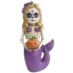 Mermaid Sugar Skull Tabletop Decor