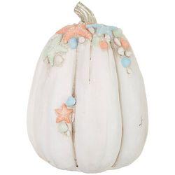 Brighten the Season Pumpkin Starfish Shell Tabletop Decor