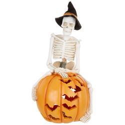 LED Skeleton Pumpkin Tabletop Decor