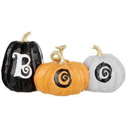 Boo Trio Pumpkin Decor