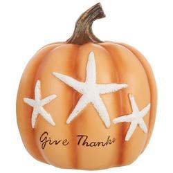 Give Thanks Starfish Pumpkin Decor
