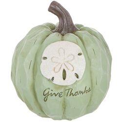 Brighten the Season Give Thanks Sand Dollar Pumpkin Decor