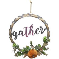 15'' Gather Pumpkin Wreath