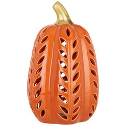 Brighten the Season Pumpkin Pierced Luminary Tabletop Decor