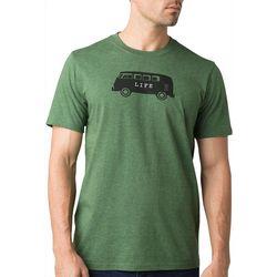Prana Mens Journeyman Will  Travel Short Sleeve Shirt