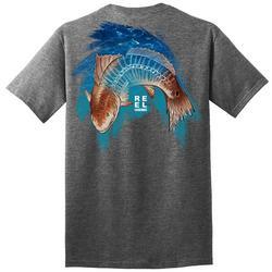 Mens Skeletal Redfish Graphic T-Shirt