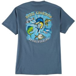 Reel Legends Mens Sport Fishing Graphic Short Sleeve T-Shirt