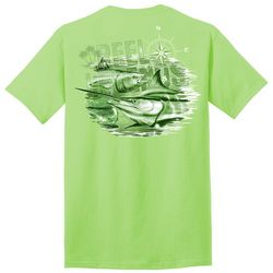 Reel Legends Mens Tonal Billfish Graphic T-Shirt