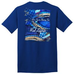 Reel Legends Mens From Sea To Shining Sea Graphic T-Shirt
