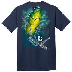 Mens Skeletal Mahi Graphic T-Shirt