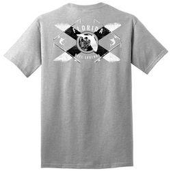 Reel Legends Mens Florida Poles Short Sleeve T-Shirt