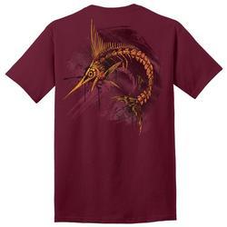 Mens Skeletal Marlin Graphic T-Shirt