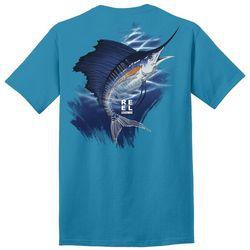 Reel Legends Mens Skeletal Sailfish Graphic T-Shirt