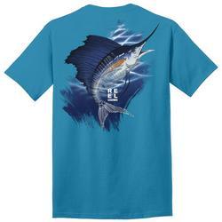 Mens Skeletal Sailfish Graphic T-Shirt