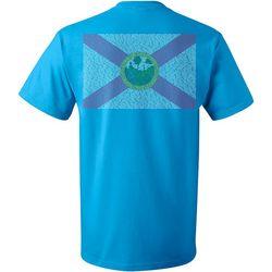 Reel Legends Mens Florida Flag Short Sleeve T-Shirt