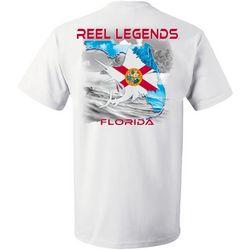 Reel Legends Mens Sailfish Florida Outline T-Shirt
