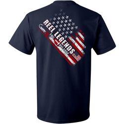 Reel Legends Mens Americana Tag Release Short Sleeve T-Shirt
