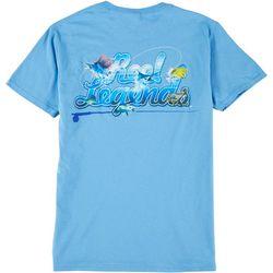 Reel Legends Mens Logo Crew Neck T-Shirt
