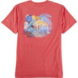 Mens Sunset Sailfish Short Sleeve T-Shirt