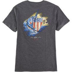 Guy Harvey Mens Patriotic Shield Short Sleeve T-Shirt