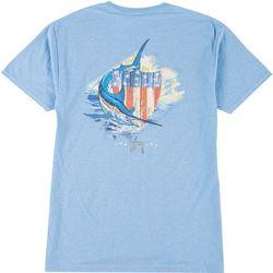 Guy Harvey Mens Casual Patriotic Shield  T-Shirt