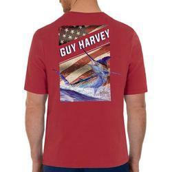 Guy Harvey Mens Jump Marlin Short Sleeve T-Shirt