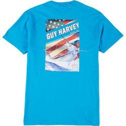 Guy Harvey Mens Jumping Marlin Short Sleeve T-Shirt