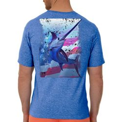 Guy Harvey Mens Swords And Stars Heathered T-Shirt