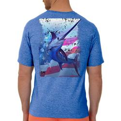 Mens Swords And Stars Heathered T-Shirt