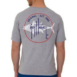 Mens Circle Marlin Heathered Short Sleeve T-Shirt