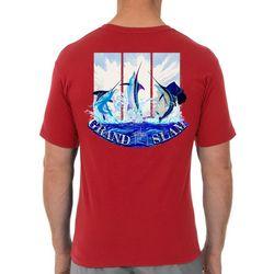 Guy Harvey Mens Grand Slam Jump Short Sleeve T-Shirt
