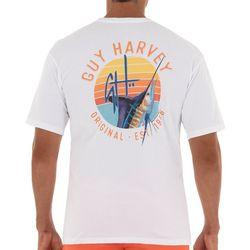 Guy Harvey Mens Sunset Marlin Short Sleeve T-Shirt