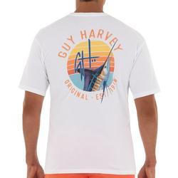 Mens Sunset Marlin Short Sleeve T-Shirt