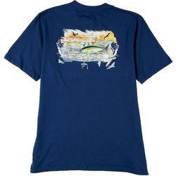 Guy Harvey Mens Chasing Tuna Solid T-Shirt