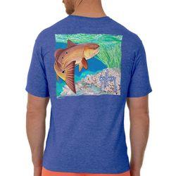 Guy Harvey Mens Inshore Redfish Heathered T-Shirt