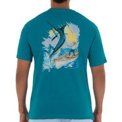 Guy Harvey Mens Santiago Marlin Short Sleeve T-Shirt